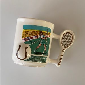 Vintage 1989 Tennis Sport Mug